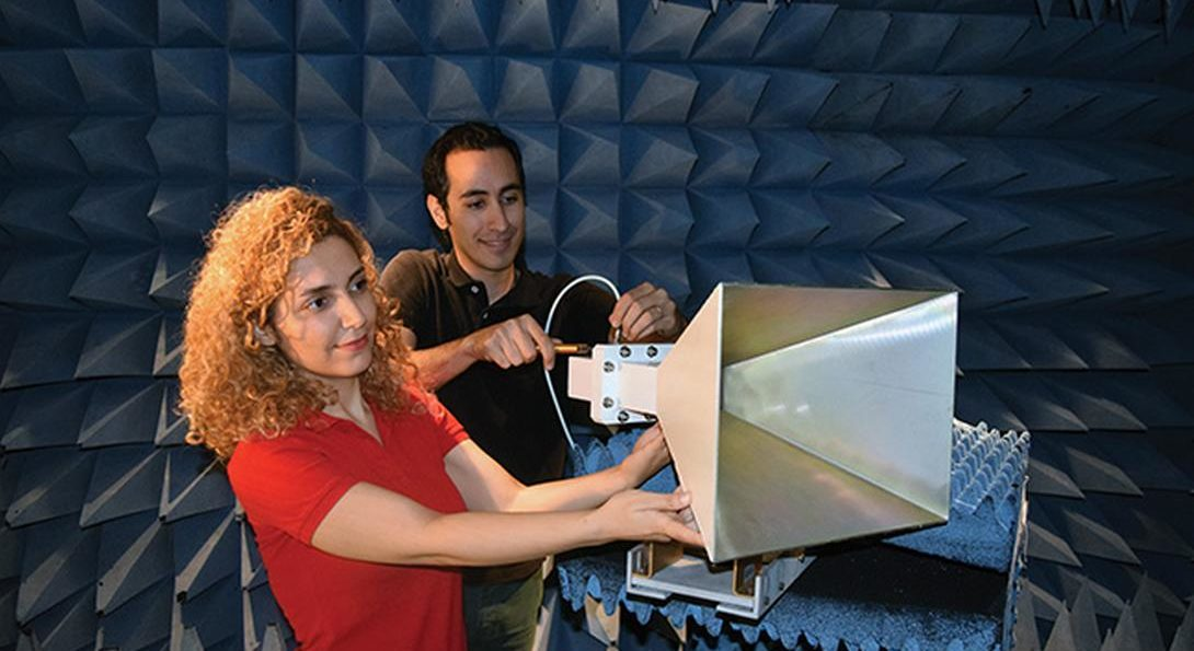 two people working on Megaphone project