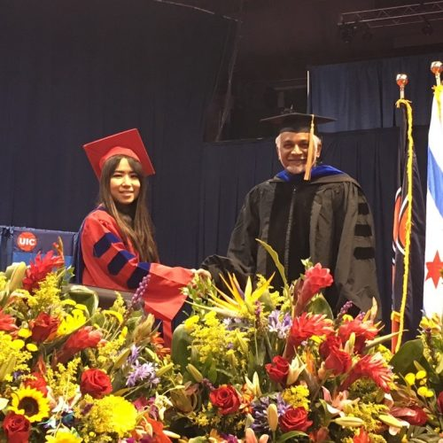 ECE doctoral student and department head at graduation