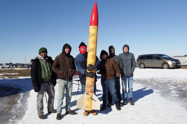 AIAA students at a rocket competition