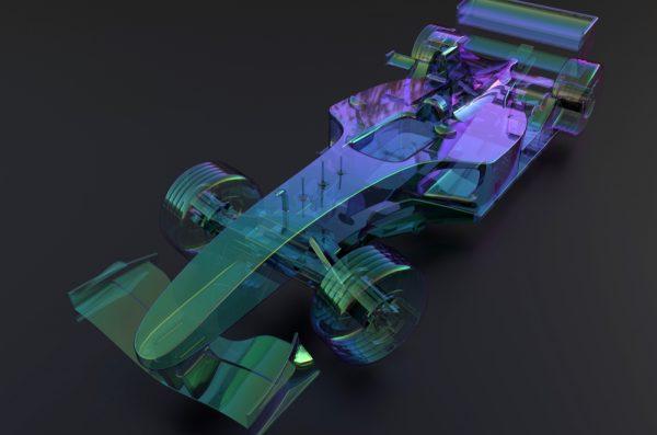racecar rendering