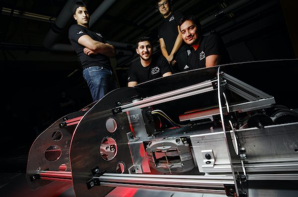 Four students with hyperloop technology